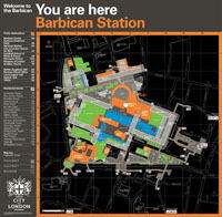 Barbican Estate map