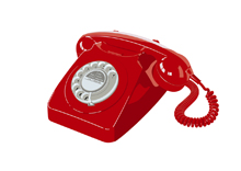 746 telephone — Red